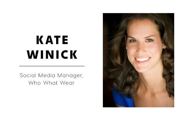 WHO WHAT WEAR: What are some of the reactions you get when you tell people you're a social media editor?  KATE WINICK: I haven't found there to be much stigma—most people are really...