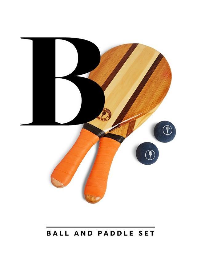 Frescobol Carioca Wooden Beach Bat and Ball Set