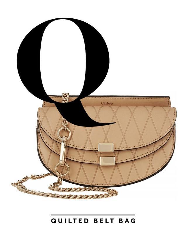 Chloé Georgia Convertible Embossed Leather Belt Bag