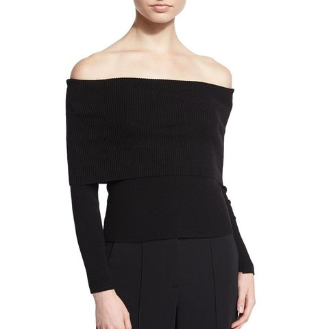 Monica Wool-Blend Off-The-Shoulder Sweater
