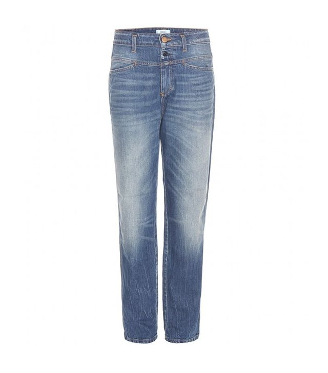 light wash high waisted jeans