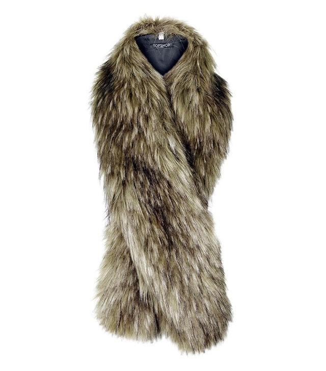 Topshop Faux Fur Tonal Stole