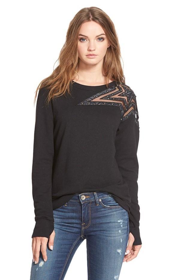 Pam & Gela Embellished Star Sweatshirt
