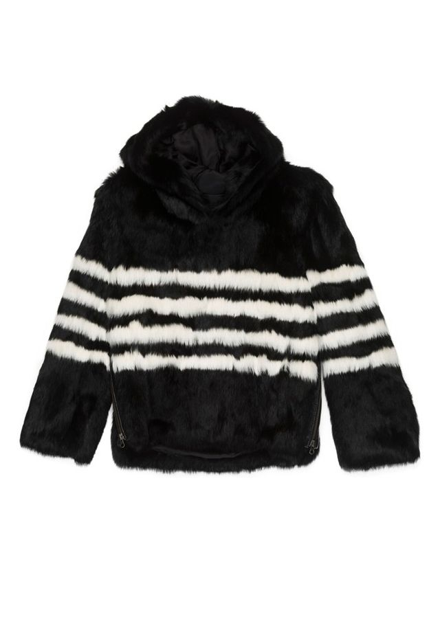 Pam & Gela Striped Rabbit Hoodie