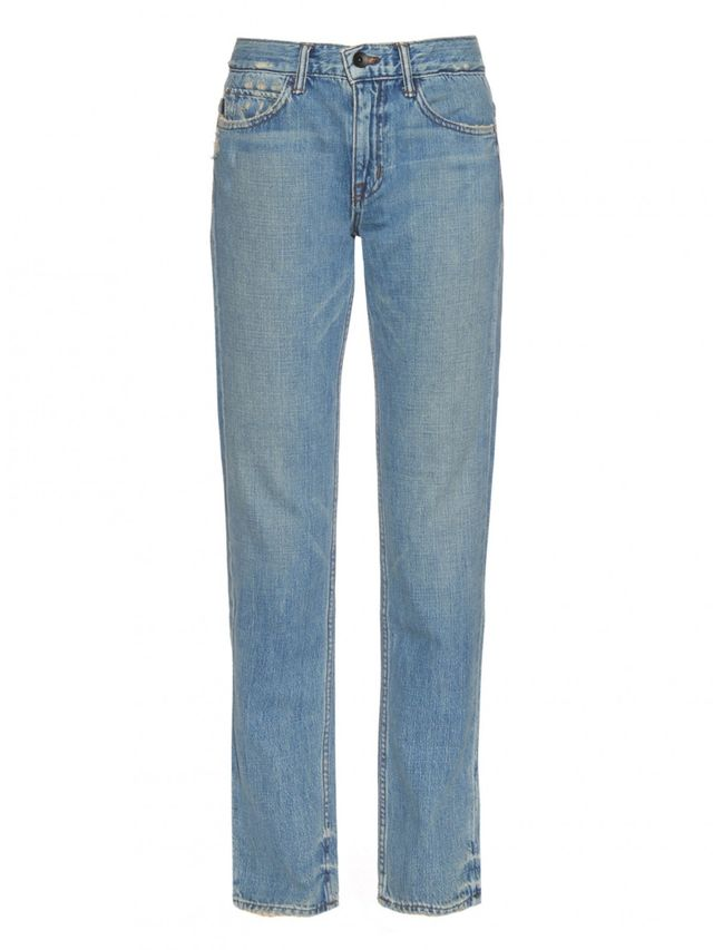 Helmut Lang Distressed High-Rise Denim Jeans