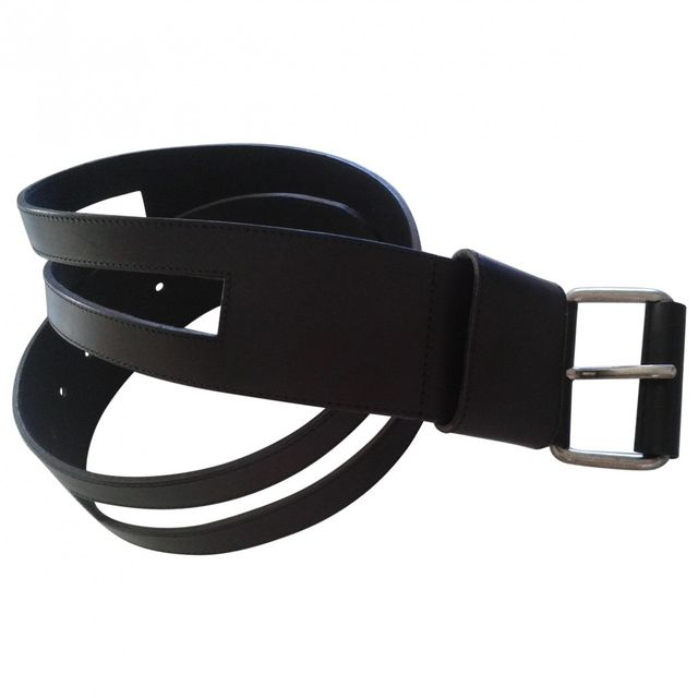 Lacoste Black Leather Belt