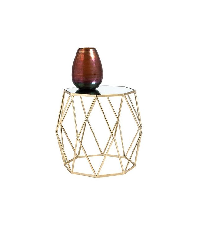 Zara Home Golden Octagonal Table