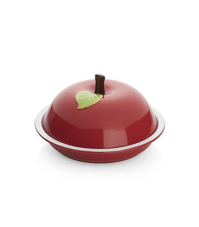 Crate and Barrel Covered Red Apple Pie Dish