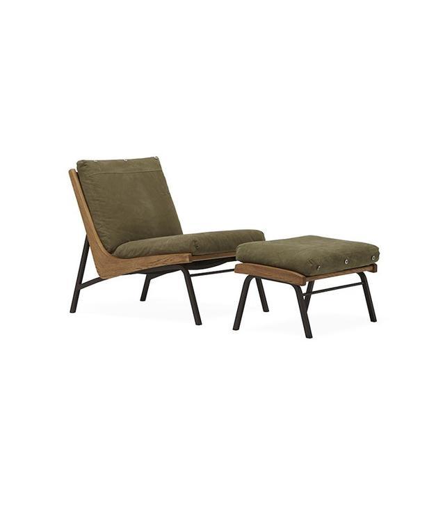 Stephen Kenn Boomerang Chair + Ottoman