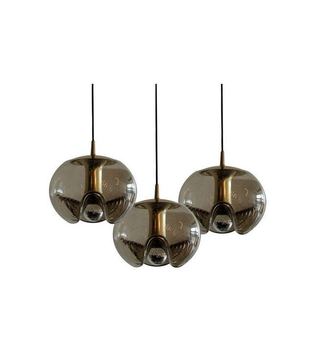 Peill & Putzler Smoked Glass Hanging Lights
