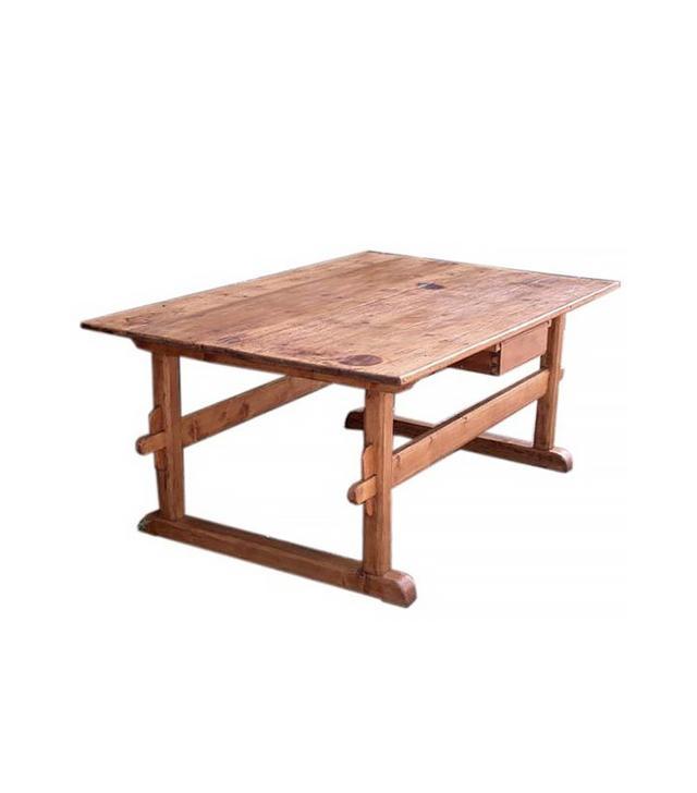 Vintage Antique Trestle Table