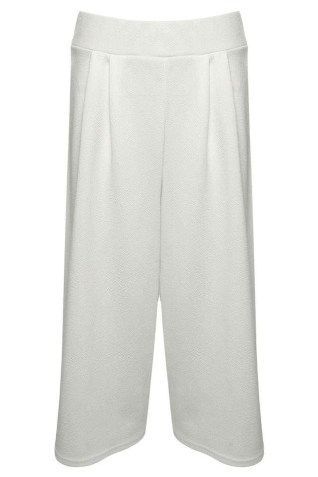Boohoo Molly Textured Creped Culottes