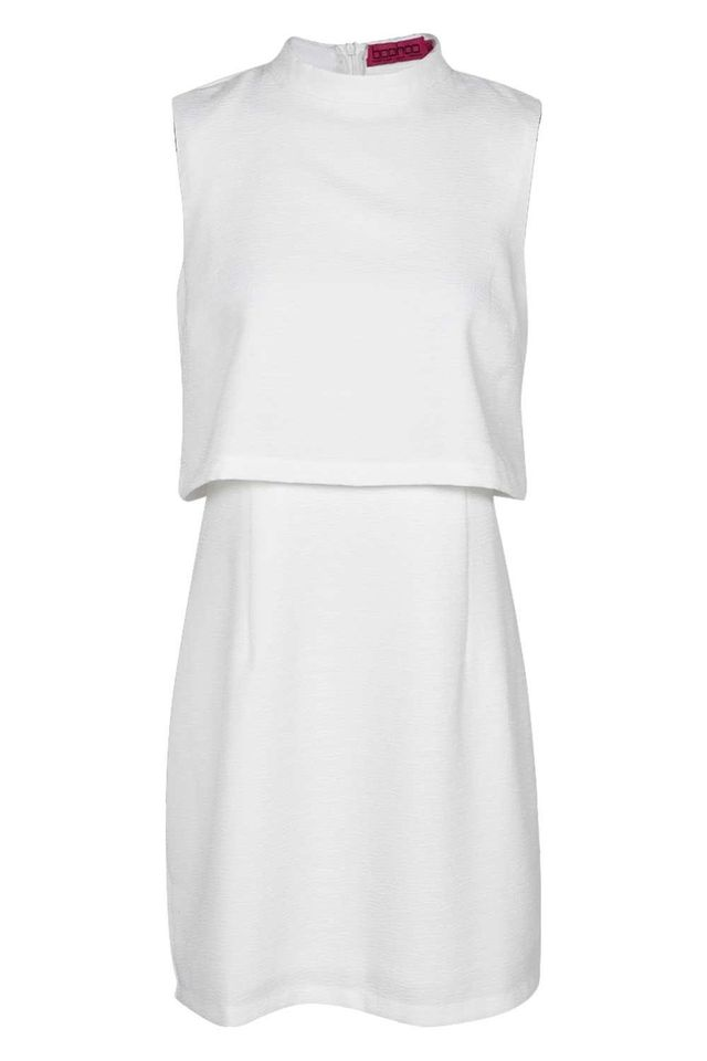 Boohoo Erin Woven High Neck Dress