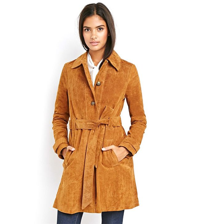 Forever 21 Contemporary Genuine Suede Wrap-Belt Jacket
