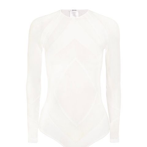 Rhomb Paneled Stretch-Jersey Bodysuit
