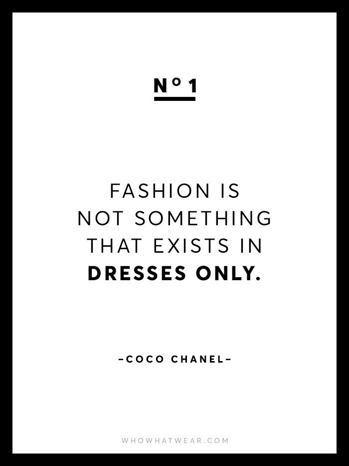 13 Rare Coco Chanel Quotes | Who What Wear