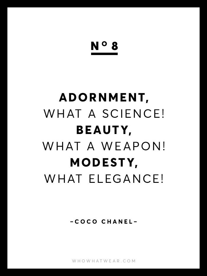 13 Rare Coco Chanel Quotes Who What Wear