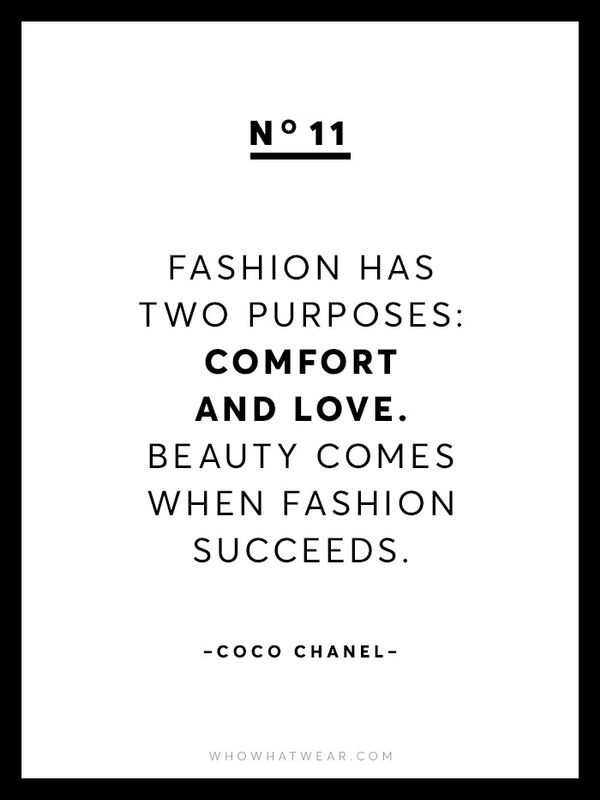 """""""Fashion has two purposes: comfort and love. Beauty comes when fashion succeeds."""""""
