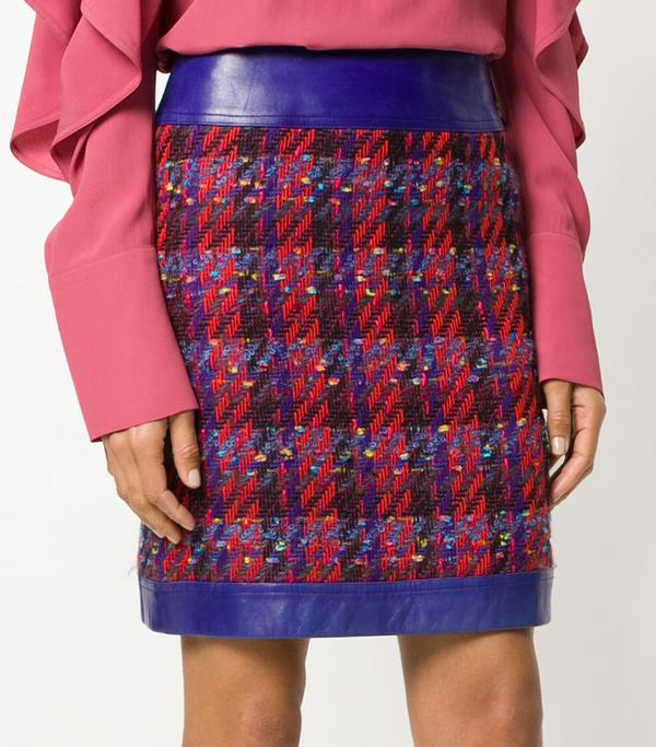 tweed straight skirt