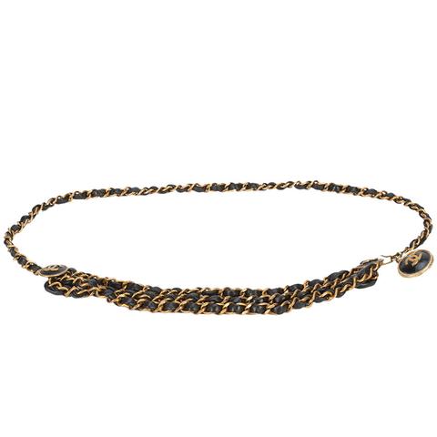 Woven Chain Lion Belt