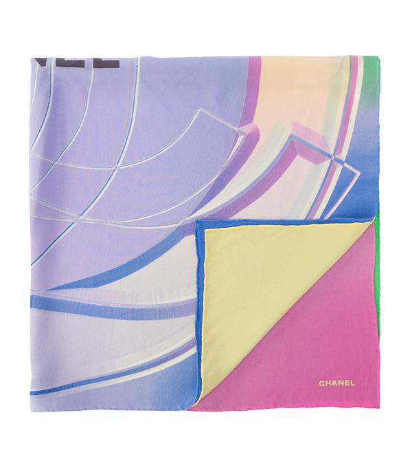 CC print square scarf