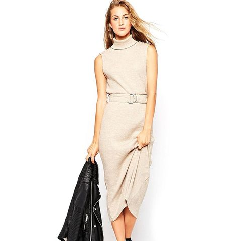 Petite Roll Neck Midi Dress With D-Ring
