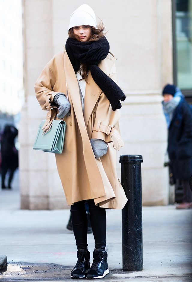 On Hill: 3.1 Phillip Lim Coat and bag.