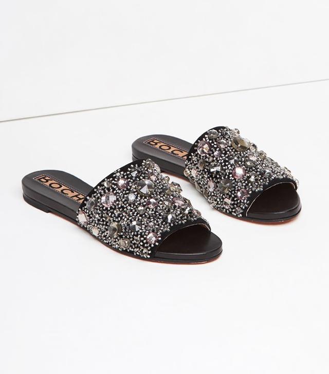 Rochas Crystal Slide Sandal
