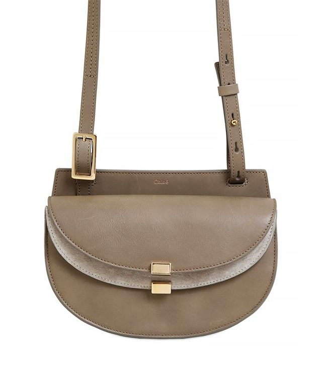 Chloé Mini Georgia Smooth Leather & Suede Bag