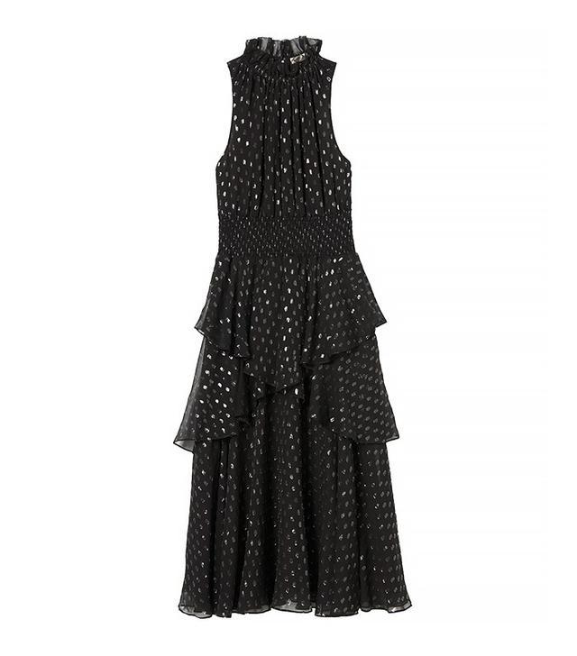 Rebecca Taylor Sleveless Lurex Dot Dress