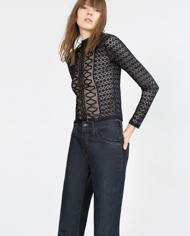 Zara Lace T- Shirt