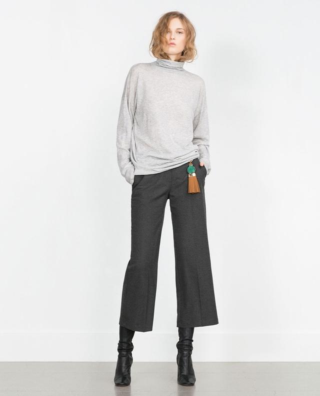 Zara Oversized Sweater in Gray Marl