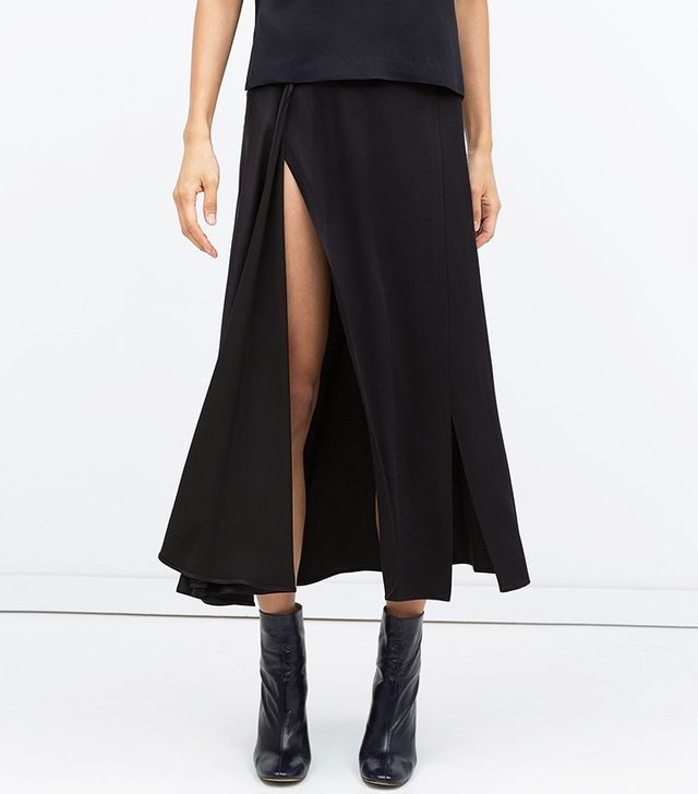 Zara Long Studio Skirt With Slits