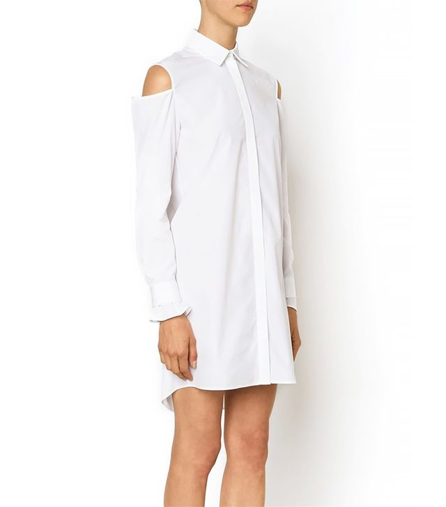Thakoon Cutout Shoulder Shirt Dress