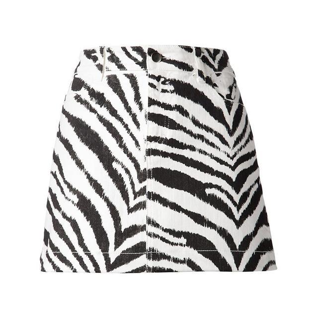 Emanuel Ungaro Zebra Print Mini Skirt