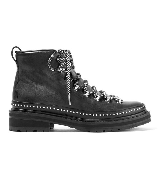Compass Ii Studded Leather Ankle Boots