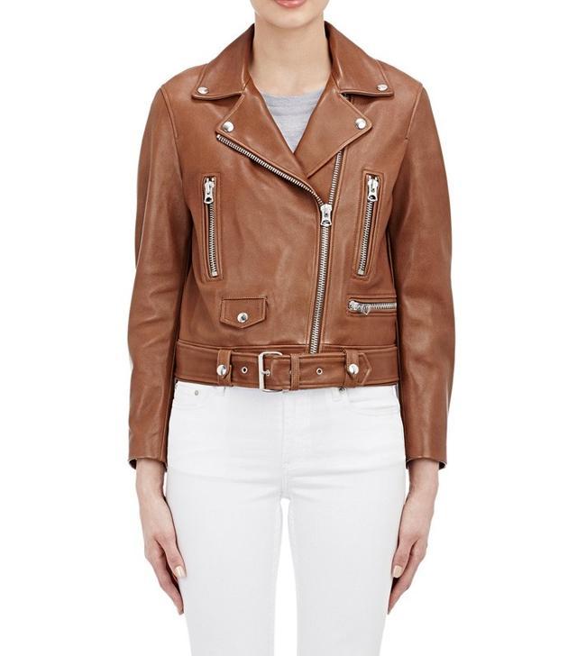 "Acne Studios Leather ""Mock"" Moto Jacket"