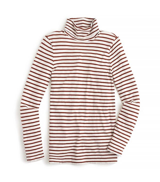J.Crew Striped Tissue Turtleneck T-Shirt