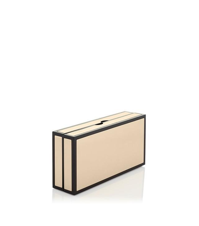 Jimmy Choo Gold Metal Clutch Bag