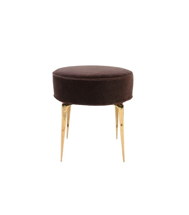 Irwin Feld Design for CF Modern Pair of Round Stiletto Ottomans