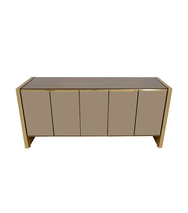 Ello Furniture Ello Credenza in Brass and Bronze-Tinted Mirror