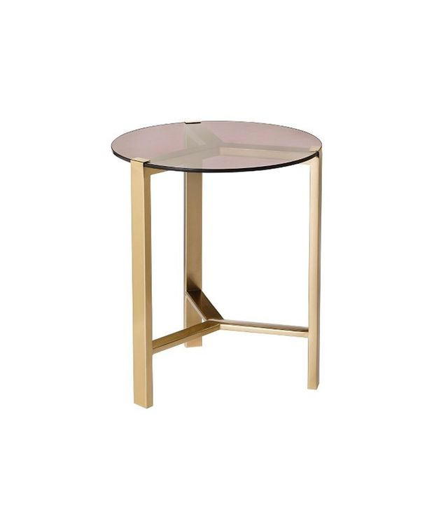 Nate Berkus for Target Gold Accent Table with Glass Top