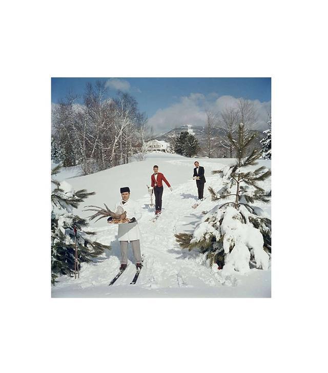 Skiing Waiters, 1960 by Slim Aarons