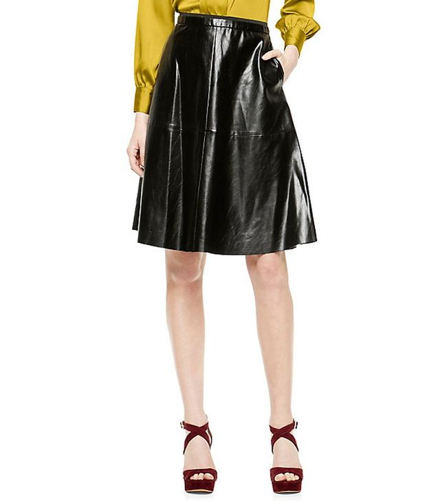 Vince Camuto A-Line Faux Leather Skirt