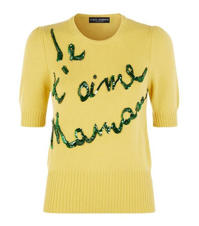 Dolce & Gabbana Je T'aime Maman Cashmere Sweater