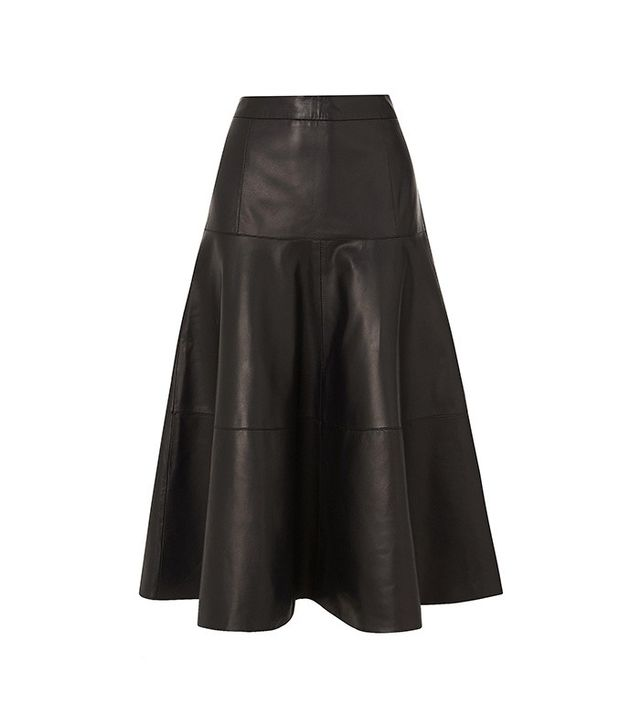 L.K. Bennett Delfine Leather Skirt