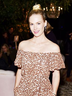 Okay, January Jones Just Wore the Coolest Outfit for a Night Out