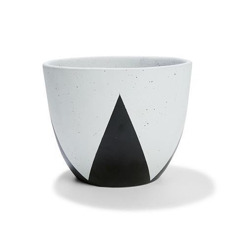 Kmart Triangle Cache Pot - Black/White