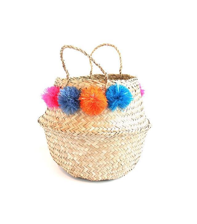 Eliza Gran Medium Pom Pom Basket