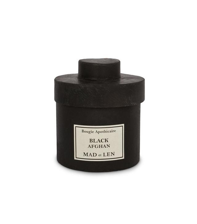 Mad et Len Black Afghan Candle